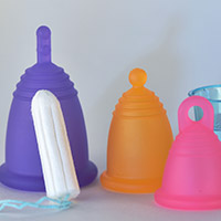Me Luna Menstrual Cups and a Tampon