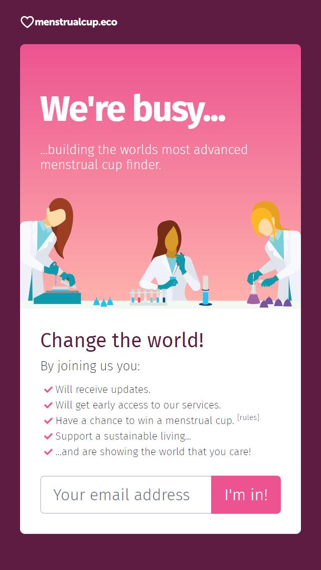 Vi är upptagna med att bygga världens mest avancerade sökmotor för menskoppar.