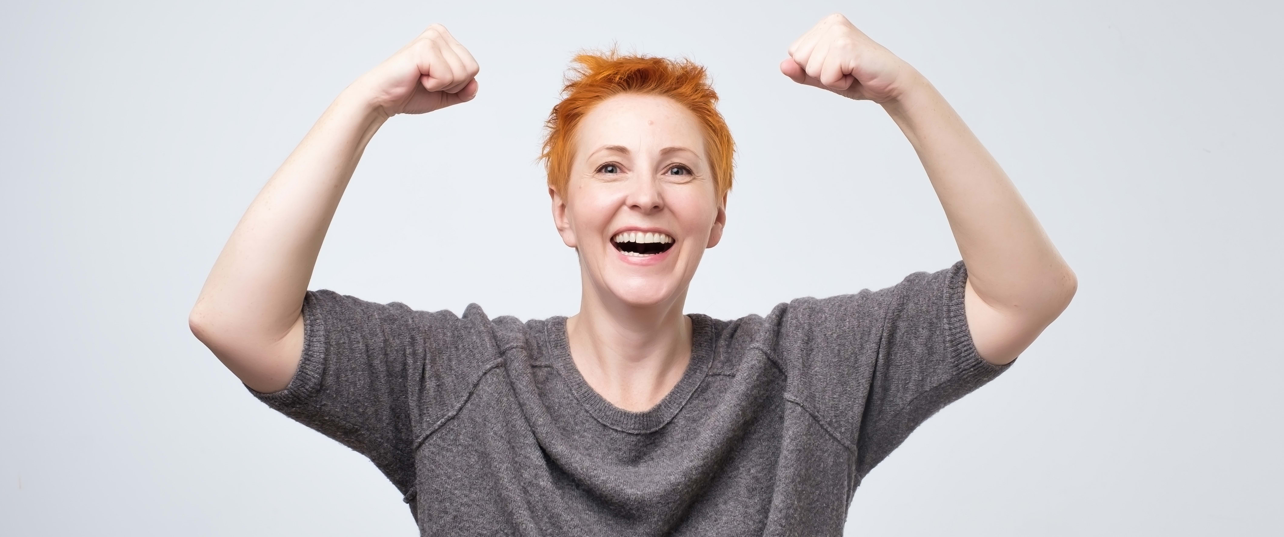 Flex Cup Hero Image of a Woman With Short Hair