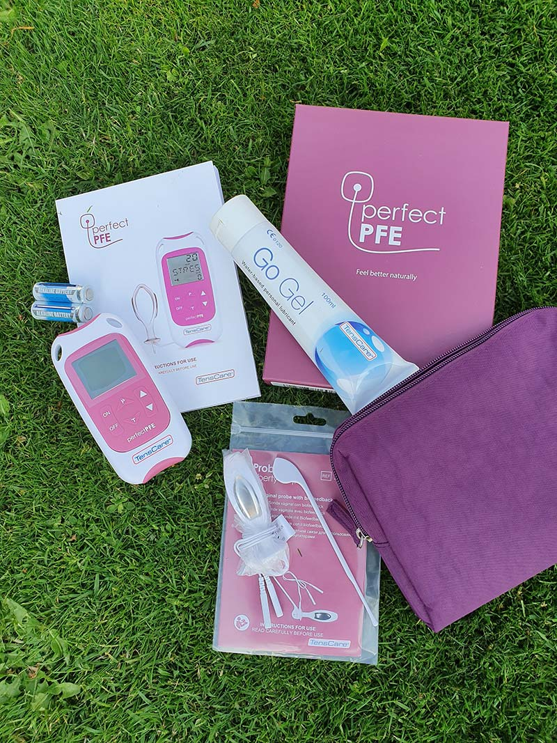 TensCare Perfect PFE Pelvic Floor Exerciser what is included in the package