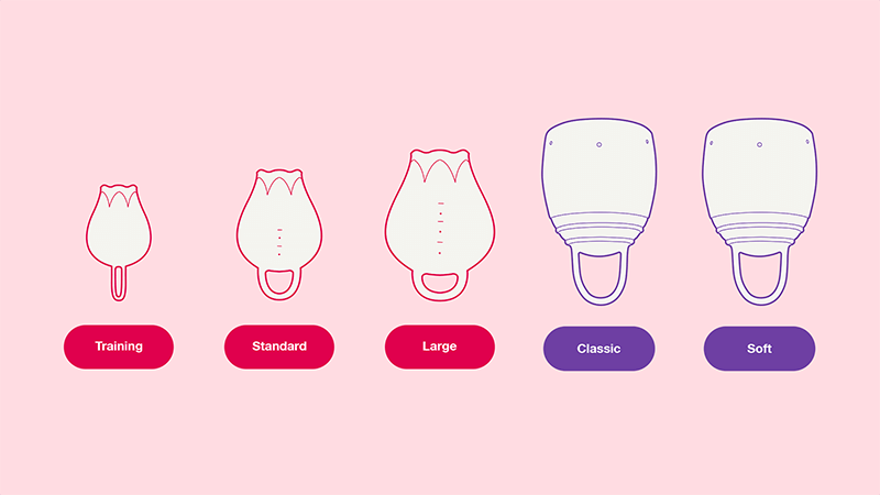 Formoonsa menstrual cup sizes