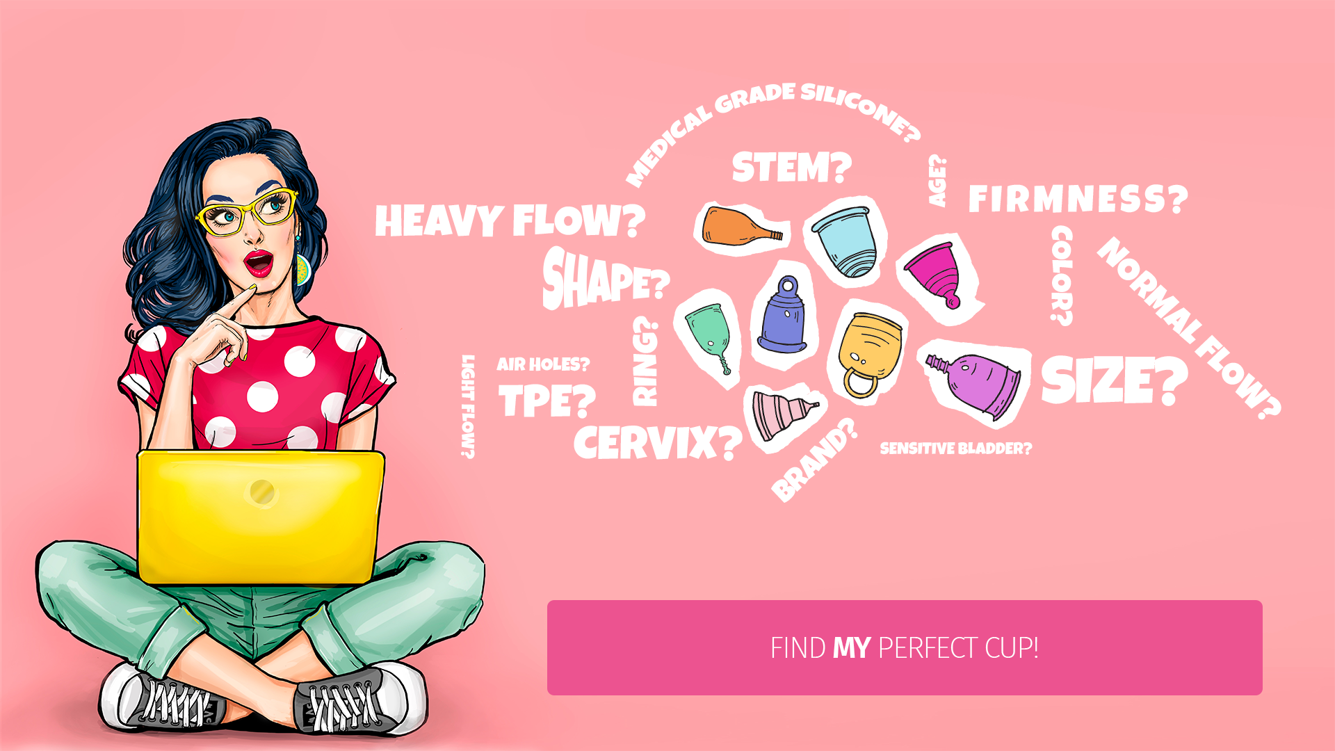 Find my perfect menstrual cup