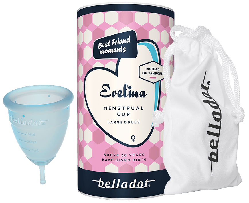 Belladot menstrual cup Evelina Large and Plus