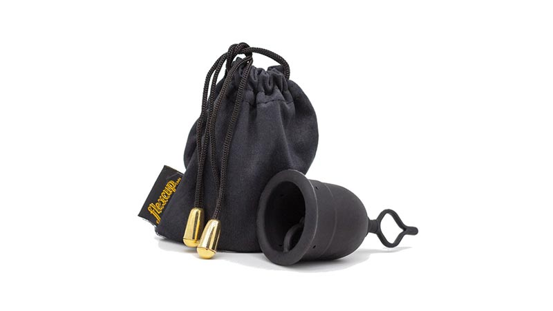 Flex Menstrual Cup With Black Bag