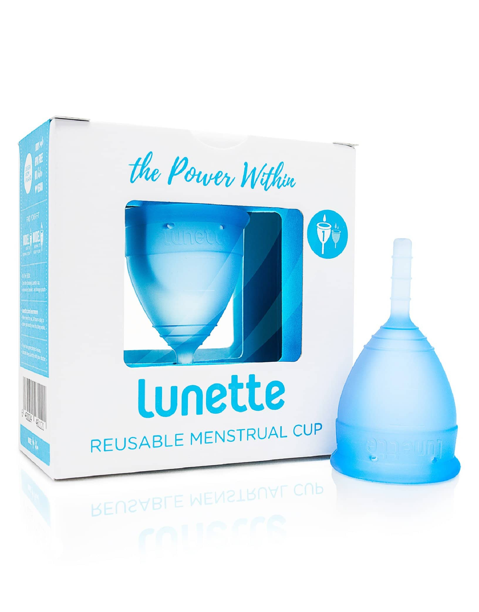 Lunette menstrual cup Blue Model 1