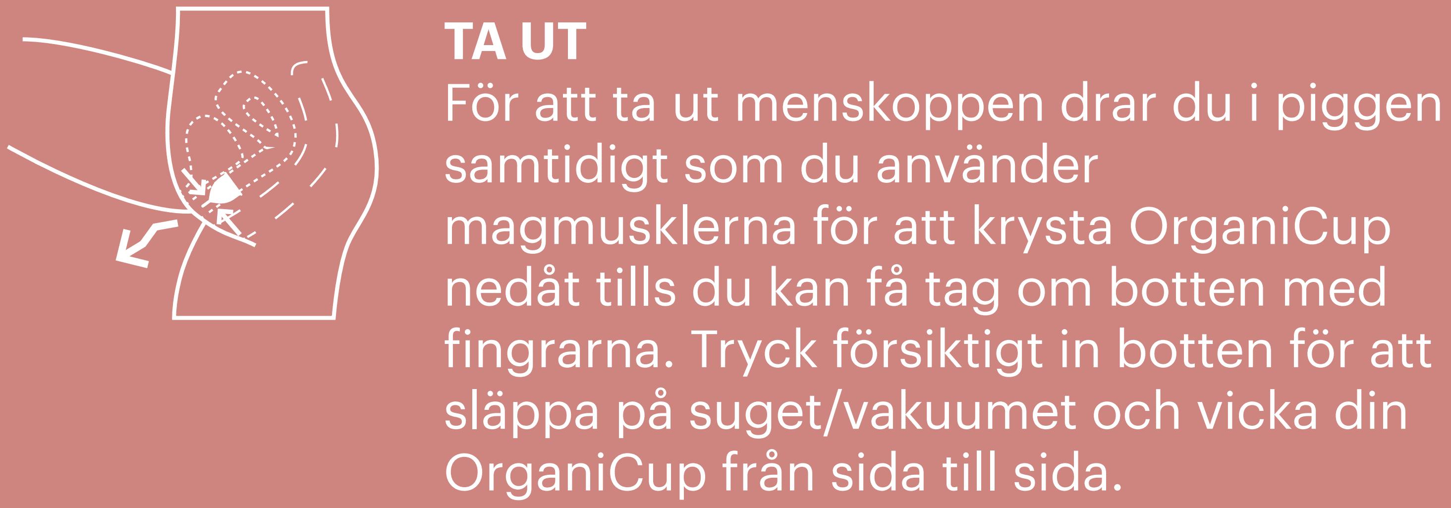 Remove menstrual cup