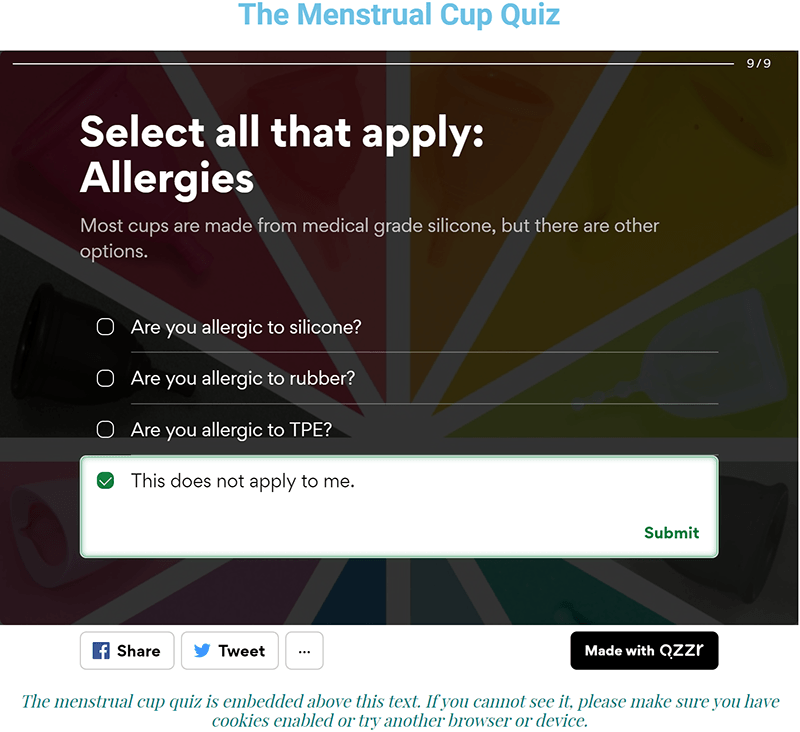 Put A Cup In It: The Cup Quiz Question 9 (selected answer)