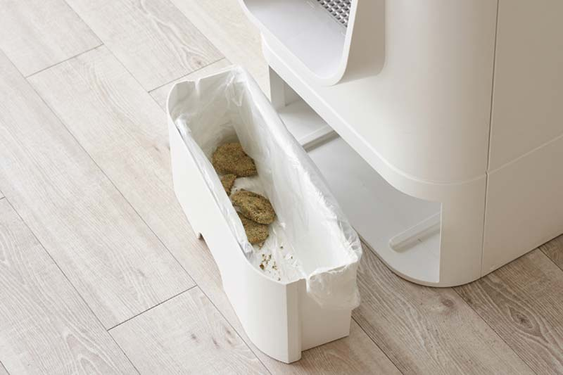 LavvieBot S waste drawer with waste
