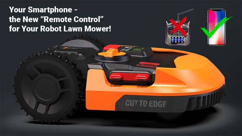 Robot lawn mower with remote control cover