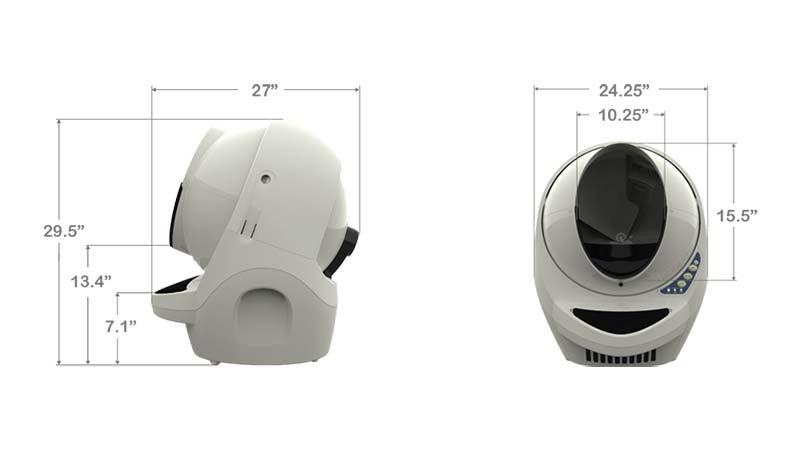 Litter Robot III Open Air Dimensions